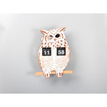 Interesting Owl Animal Flip Clock