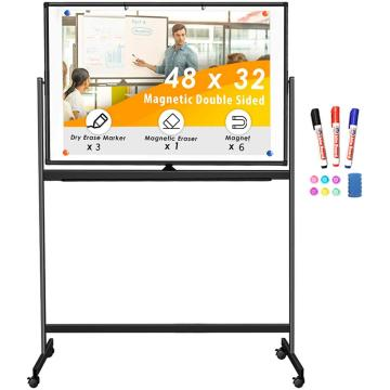Double-Sided Magnetic Mobile board Aluminium Frame and Stand