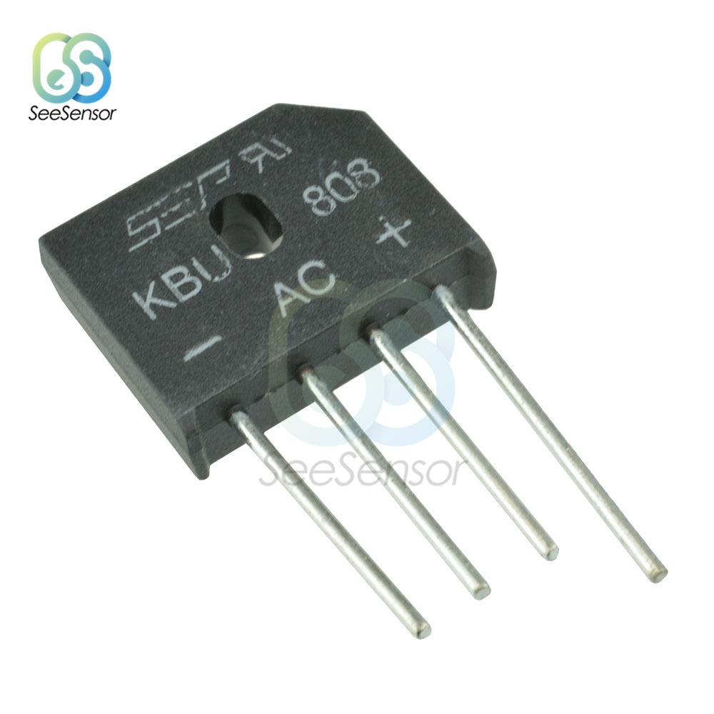 10Pcs/lot KBL608 KBL-608 KBU808 KBU6J 6A 800V 6A 600V 8A 800V Diode Bridge Rectifier