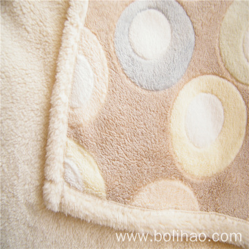Soft Coral Fleece and Velveteen Composite Blanket