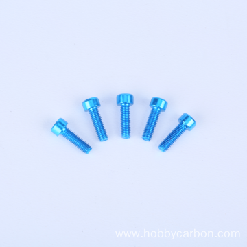 OEM Colorful Aluminum 6061/7075 Hexagon socket head screw