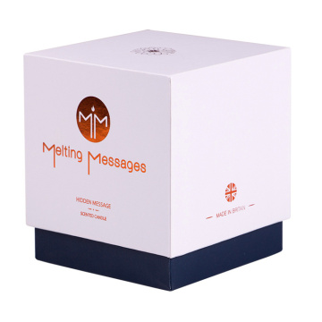 White Rigid Candle Gift Packing Box Packaging