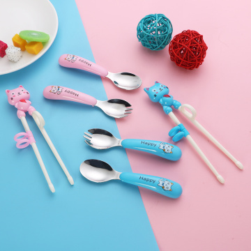 Wholesale Children's Learning Chopsticks Spoon And Fork Set