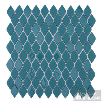 Blue glass mosaic for wall tile