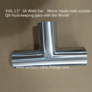 sanitary ss304/ss316L pipe fittings Welding Tee