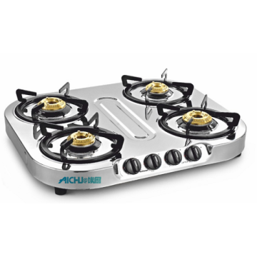 Optra SS Gas Stove 4 Brass Burners
