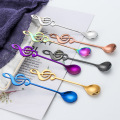 Colorful Stainless Steel Music Coffee Stirrer Spoon