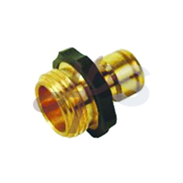 Brass garden hose tool adapter