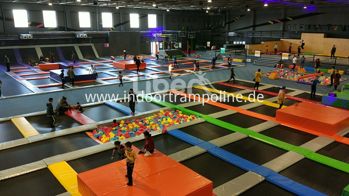 indoor trampoline park equipment