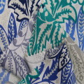 Country style cotton printed plain fabric