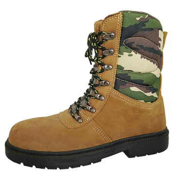 Army Safety Boots with Camouflage Upper