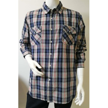 Men's Yarn Dye Long Sleeve Casual Shirt