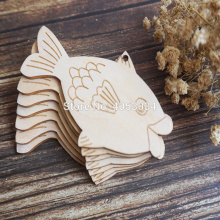 Wooden Comic Fish Craft Shapes Plywood