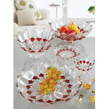 Colorful quality crystal glass fruit bowl tray