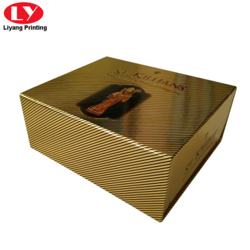 Custom Gold cardboard drawer candle packaging box