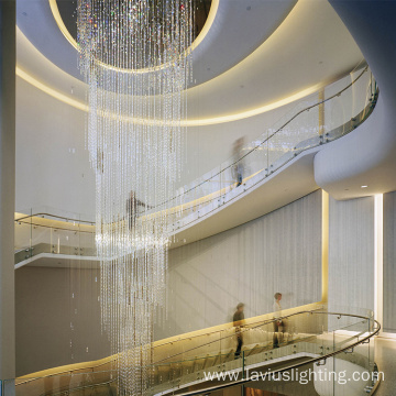 Hotel hall luxury crystal led chandelier