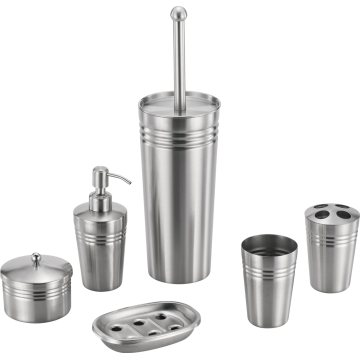Stainless Steel Bathroom Accessory Set Roundness