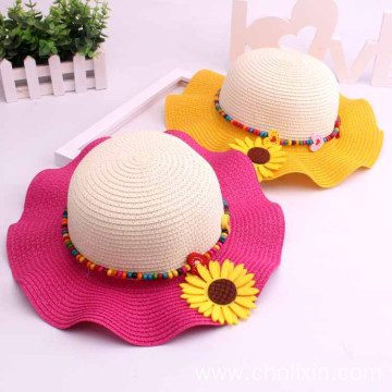 Sunflower casquette plate children bonnie straw hat