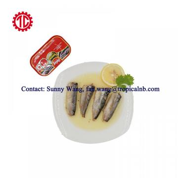 125g Club Tin Packed Canned Sardine Fish In Vegetable Oil