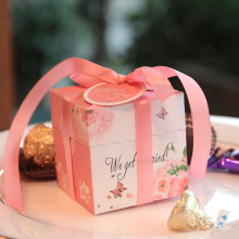Luxury Ivory Board Wedding Candy Box