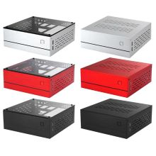 B01 Mini ITX Computer Case Chassis Aluminum/Glass Briefcase Desktop PC Enclosure