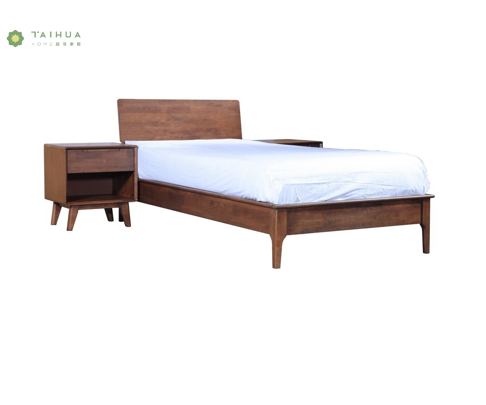 Full Solid Wood Single Bed