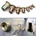 165PCS Carbon Steel Flat Head Rivet Nut Nutsert Screw M3 M4 M5 M6 M8 M10 M12 Hardware Parts Multi Sizes Insert Rivet Nuts