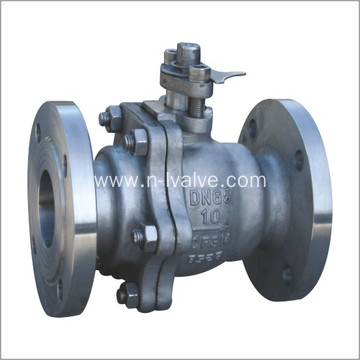 Bare Shaft Floating 2 PCS Casted Ball Valve