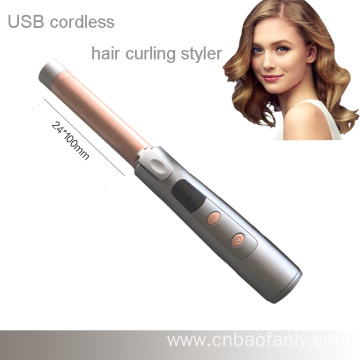 traveling cordless hair curling tongs