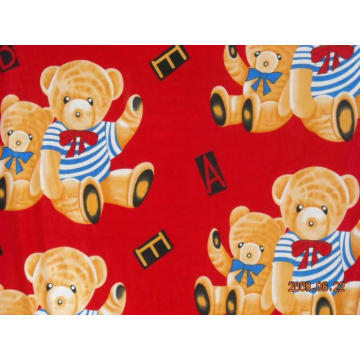 100% Polyester  baby bear printed blanket