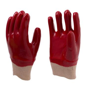 Red PVC Fully Coated Work Gloves