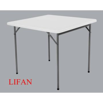 Cheap White Foldable Plastic Square Folding Card Table