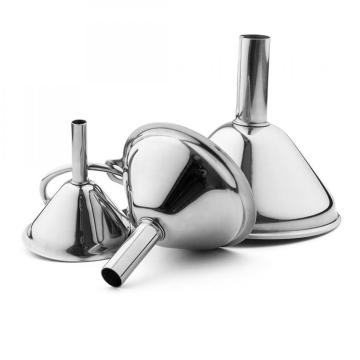 Set of 3PCS Stainless Steel Funnel Strainer