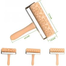 Hand-Held Embossing Pattern Engraved Rolling Pin