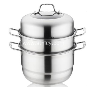 304 Multi-purpose Stainless Steel Double layer Steamer Pot