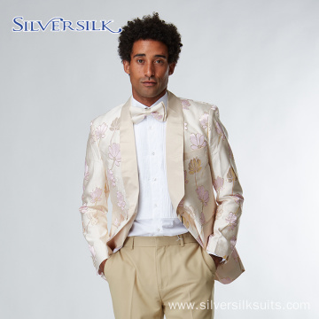 Jacquard Floral Jacket Tuxedo Suits Men Blazer