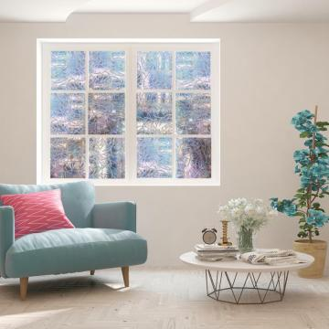 Window Film 3D Privacy Window Glass Film Rainbow Effect Self-adhesive Anti UV Glass Stickers Home Decor Bedroom Kitchen