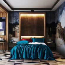 Gray Gray 4-Pcs Premium 100%Mulberry Silk Luxury Bedding Set Queen size King Ultra-Soft Bed sheet set Duvet cover Pillow shams