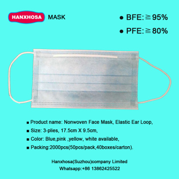 Virus Protective Face Mask 3ply Disposable
