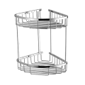 HIDEEP Full Copper Double-layer Rectangular Shower Rack