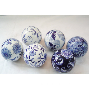 Chinse blue and white porcelain decoration ball