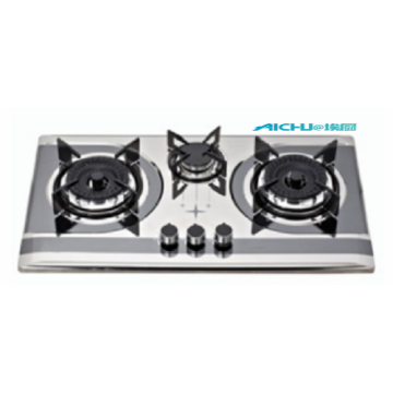 3 Burners Built In Stainless Brushed  Cooktop