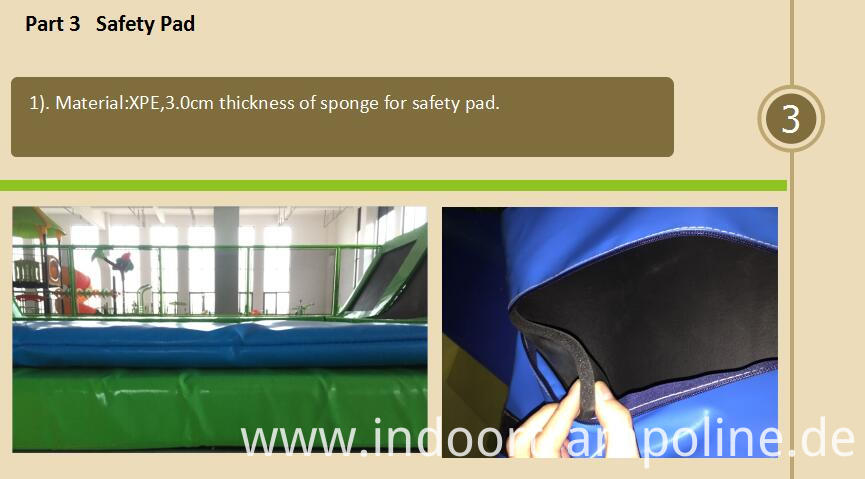 Safety pad of trampoline park equipment for sale