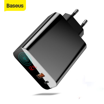 Baseus Quick Charger 45W Usb C Type-C Usb Charger 3.0 EU Adapter Fast Charger for Mobile Phone Charging Travel Wall Charger Plug