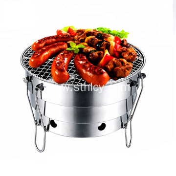 Outdoor S410 Portable BBQ Grill With Iron Stand