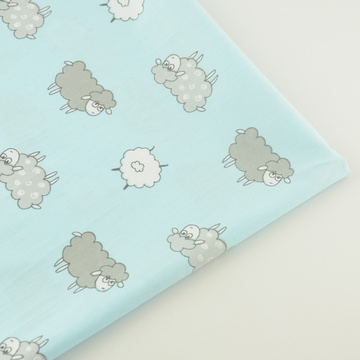 Blue Sheep Decoration Cotton Fabric Craft Fabrics Tecido Bedding Patchwork Tissue Quilting Home Textile TeramilaSewing Cloth