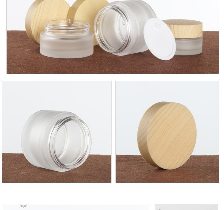 Wood grain cosmetic glass bottles are unpacked (4)
