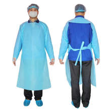 Protective clothing disposable cpe gown/apron CE and FDA certified long sleeve with thumb holes