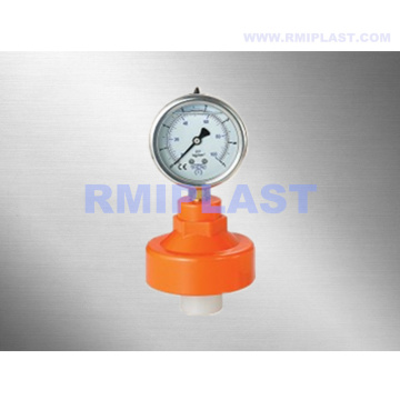 Plastic Diaphragm Seal With Gauge