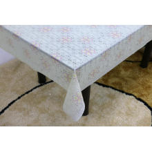 Printed pvc lace tablecloth by roll red